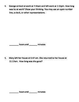 Everyday Math Grade 3 Unit 9 Pretest EM4
