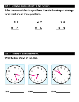 Everyday Math Grade 3 Unit 9 Study Guide EM4