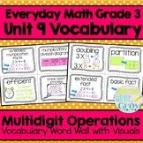 Everyday Math: Grade 3-Unit 9 {Vocabulary Word Wall}