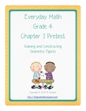Everyday Math (EM3)- Grade 4 - Pretest Chapter 1