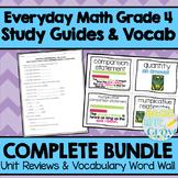 Everyday Math Grade 4-Study Guides & Vocabulary Word Wall *BUNDLE*