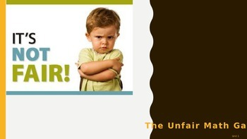 Everyday Math Grade 4 Unit 1 Review Unfair Game (CCSS Edition)