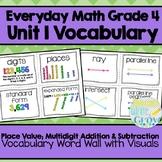 Everyday Math: Grade 4-Unit 1 {Vocabulary Word Wall}