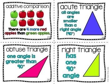 Everyday Math: Grade 4-Unit 2 {Vocabulary Word Wall}