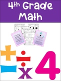 Everyday Math Grade 4 Unit 3 Exit Tickets