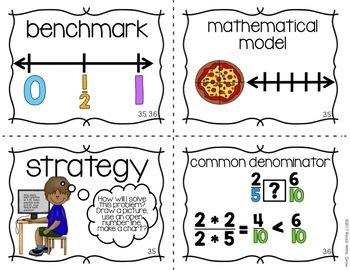 Everyday Math: Grade 4-Unit 3 {Vocabulary Word Wall}