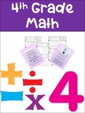 Everyday Math Grade 4 Unit 4 Exit Tickets