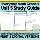 Everyday Math Grade 4 Unit 5 Review {Fractions & Measurement}