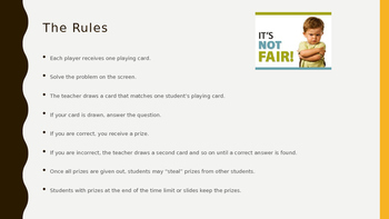 Everyday Math Grade 4 Unit 5 Review Unfair Game (CCSS Edition)