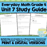 Everyday Math Grade 4 Unit 7 Review {Fraction Multiplication & Measurement}
