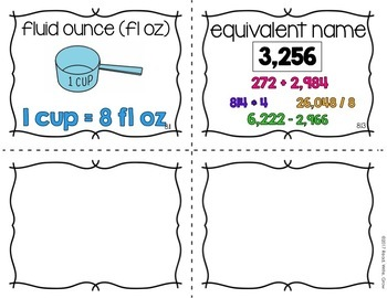 Everyday Math: Grade 4-Unit 7 and 8 {Vocabulary Word Wall}
