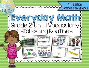 Everyday Math Grade 2 Vocabulary Word Wall {BUNDLE}