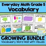 Everyday Math Grade 5 Vocabulary Word Wall {BUNDLE}