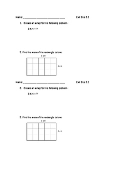 Everyday Math Grade 4 lesson 2.1 Exit Slips