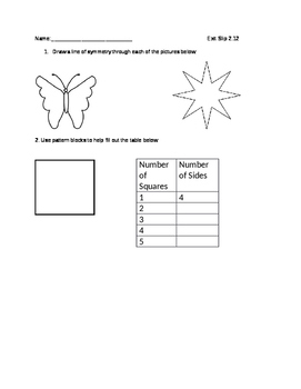 Everyday Math Grade 4 lesson 2.12 Exit Slips