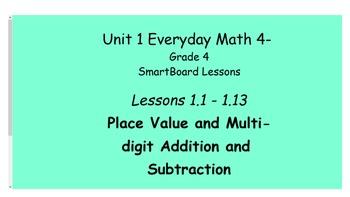 Everyday Math (version 4) Grade 4 SmartBoard- Unit 1 Place