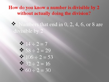 Everyday Math Grade 5 Lesson 1.5 - Divisibility Rules