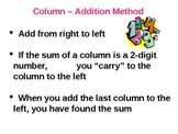 Everyday Math Grade 5 Lesson 2.2 - Addition of Whole Numbers and Decimals