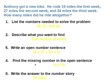 Everyday Math Grade 5 Lesson 2.4 - Addition and Subtraction Number Stories