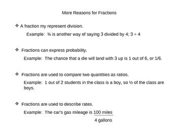 Everyday Math Grade 5 Lesson 5.1 - Fraction Review