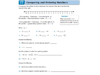 Everyday Math Grade 5 Lesson 7.7 - Using Negative Numbers