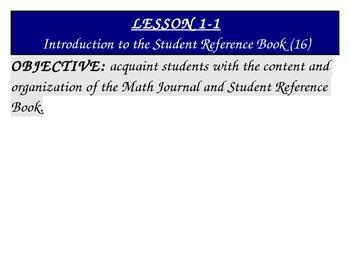 Everyday Math Grade 5 Objectives