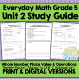 Everyday Math Grade 5 Unit 2 Review {Whole Number Place Value & Operations}