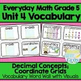 Everyday Math: Grade 5-Unit  4 {Vocabulary Word Wall}