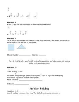 Everyday Math Grade 5 Unit 5 Common Core Assessment