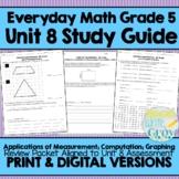 Everyday Math Grade 5 Unit 8 Review {Applications of Measurement; Computation}
