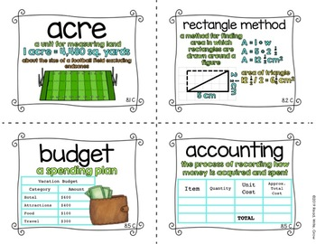 Everyday Math: Grade 5-Unit 8 {Vocabulary Word Wall}