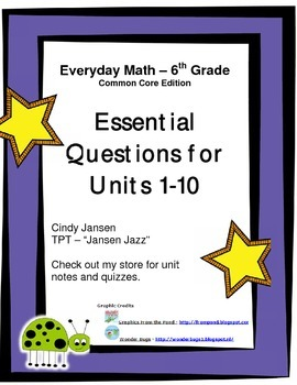 Everyday Math - Grade 6 Common Core - Essential Questions