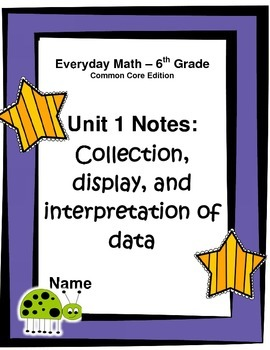 Everyday Math - Grade 6 Common Core - Unit 1 Notes and Study Guide Freebee