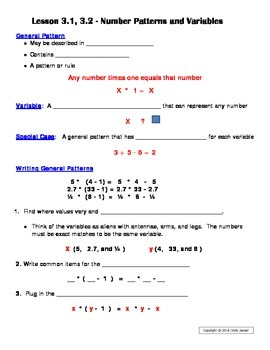 Everyday Math - Grade 6 Common Core - Unit 3 Notes and Study Guide