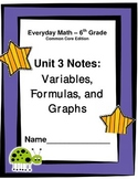 Everyday Math - Grade 6 Common Core - Unit 3 Notes and Stu
