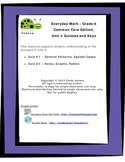 Everyday Math - Grade 6 Common Core - Unit 3 Quizzes and Keys