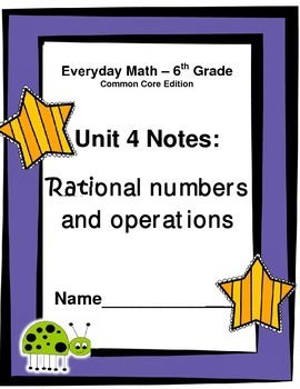 Everyday Math - Grade 6 Common Core - Unit 4 Notes and Study Guide