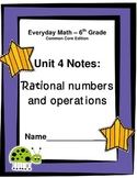 Everyday Math - Grade 6 Common Core - Unit 4 Notes and Stu