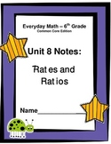 Everyday Math - Grade 6 Common Core - Unit 8 Notes and Stu