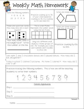 Everyday Math Homework