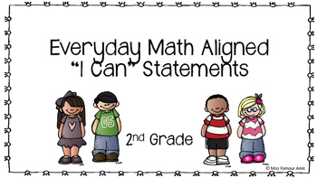 Everyday Math I Can Statements