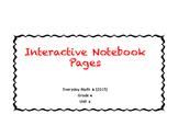 Everyday Math Interactive Notebook Grade 4, Unit 4 (2015 edition)