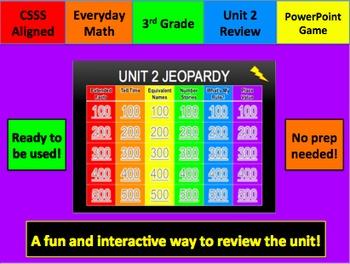 Everyday Math Jeopardy Unit 2 Grade 3