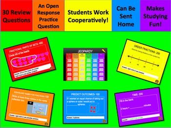 Everyday Math Jeopardy Unit 8 Grade 3
