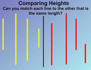 Everyday Math Kindergarten 1.13 Body Height Comparisons