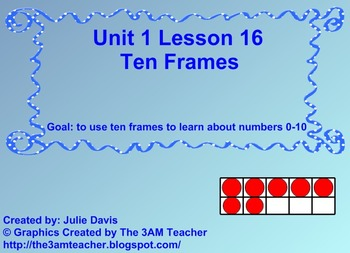 Everyday Math Kindergarten 1.16 Ten Frames