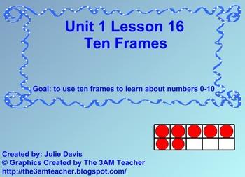Everyday Math Kindergarten 1.16 Ten Frames