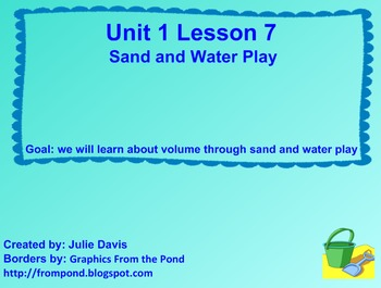Everyday Math Kindergarten 1.7 Sand and Water Play