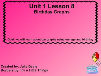Everyday Math Kindergarten 1.8 Birthday Graphs