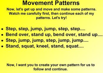 Everyday Math Kindergarten 1.9 Sound and Motion Patterns